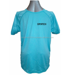 Running t-shirts 100% polyester dri fit , Custom printed panel work t-shirts