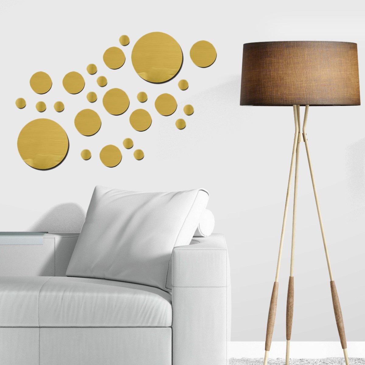 Buy Metallic Wall Decals Gold Mirror Wall Stickers Gold Wall Decor Mirror Wall Stickers Gold Dot Wall Decals Gold Polka Dot Wall Decals Circle Mirrors Wall