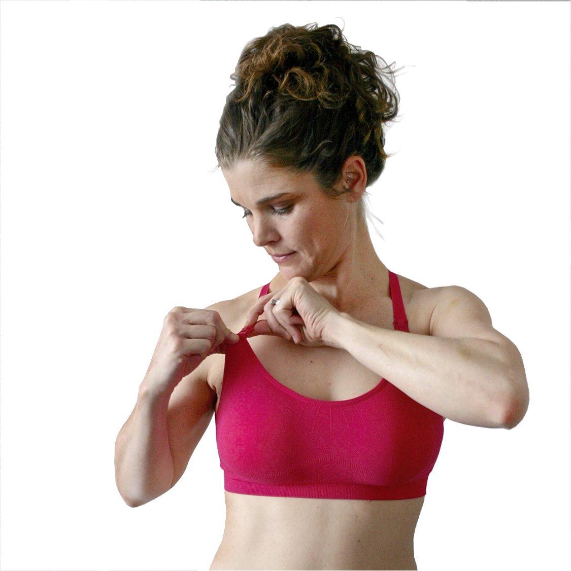 b46d38fabc528 Get Quotations · bamboobies Maternity Seamless Yoga Nursing Bra for Breastfeeding  with Extender