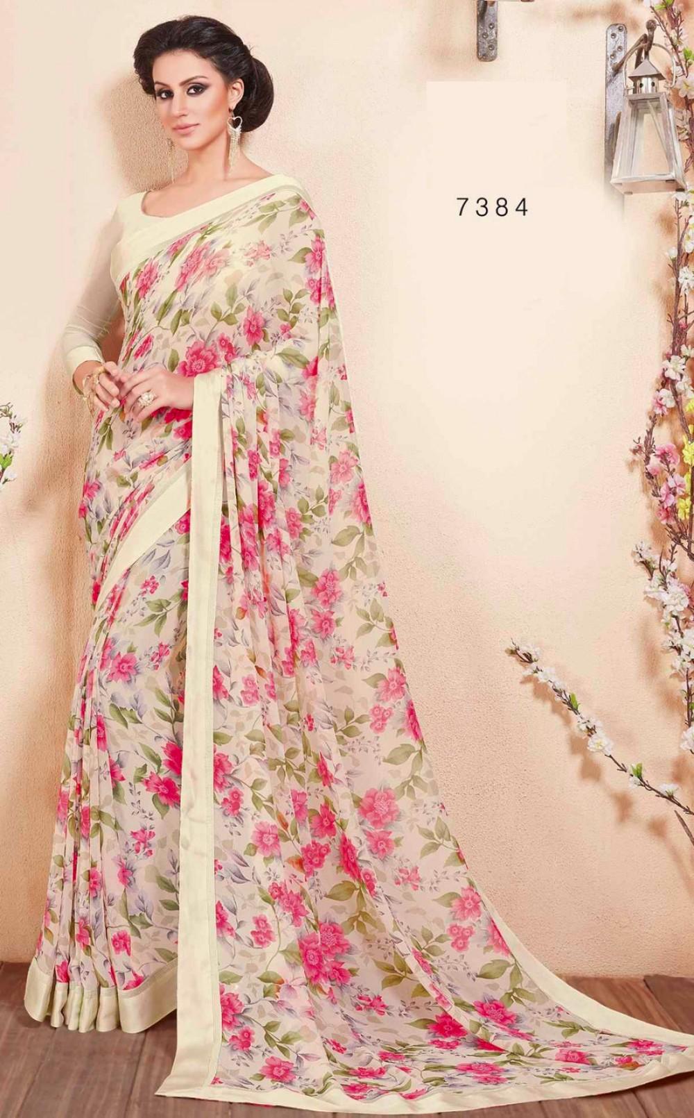 Latest Saree Blouse Designs Georgette Saree Blouse Floral