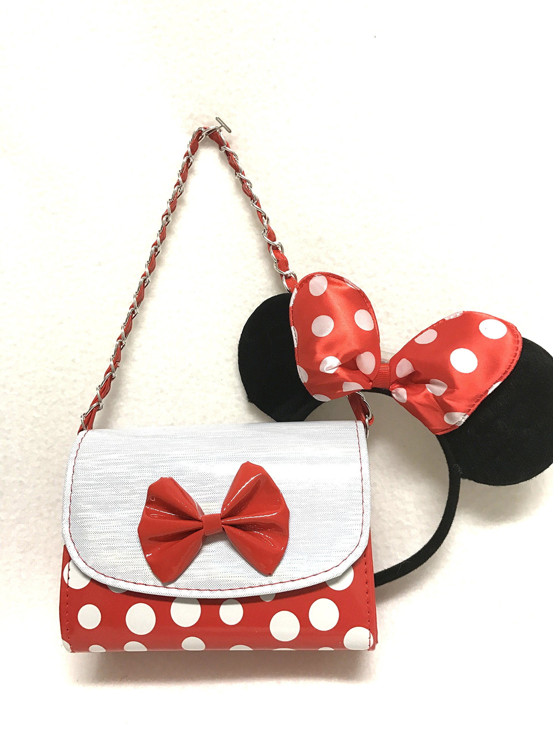0b70ae135 Get Quotations · Mickey Mouse Minnie Mouse Polka Dot Girl Crossbody  Shoulder Bag Purse
