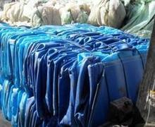 Blue plastic Scrap And Grinding Recycled Hdpe Drum Scrap suppliers fast delivery