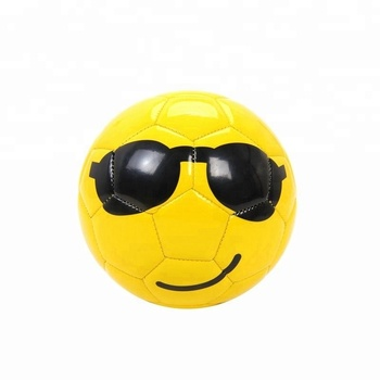 Youth Kids Mini Size 2 Pvc Soccer Ball Football Funny Emoji Face Cartoon  Toys - Buy Official Size And Weight Soccer Ball Football,New Soccer Ball