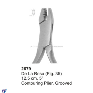 De La Rosa Fig 35 Contouring Plier 12.5 cm Grooved Dental Lab Instrument