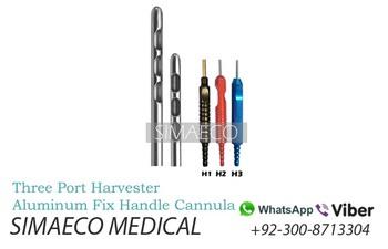 Three Port Harvester Aluminum Fix Handle Cannula - Buy Three Port Harvester  Aluminum Fix Handle Cannula Multi Holes Harvester Liposuction Cannula