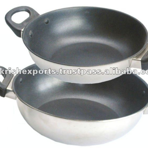 Encapsulated Balti Dish with Bakelite Handle & Non Stick Surface