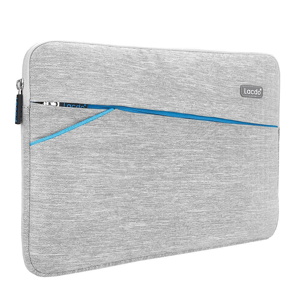 """Lacdo 13-13.3 Inch Waterproof Laptop Sleeve Case for Apple MacBook Pro 13.3-inch Retina/MacBook Air 13""""/iPad Pro/Surface Book/ASUS ZenBook/Dell HP Chromebook Notebook Bag Carrying Case, Gray"""