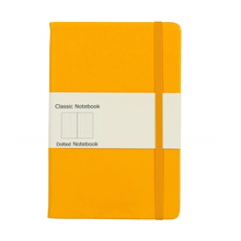 คลาสสิก A5 Dot Grid Journal 100gsm Premium หนากระดาษ Notebook with elastic band
