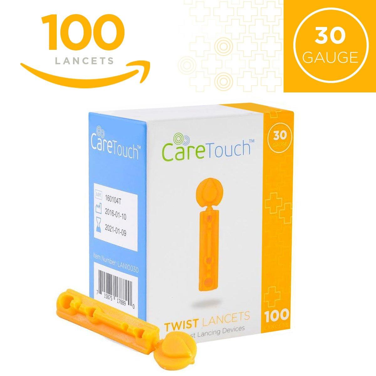 Care Touch Twist Top Lancets 30 Gauge, 100 Lancets