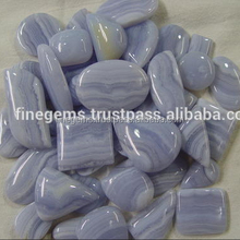 Natural blue lace agate mixed shape gemstones lott