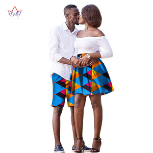 The New listing Lovers 2019 Women skirt Men shorts African Clothing Matching Dashiki Couples Clothes summer 6xl cotton WYQ41