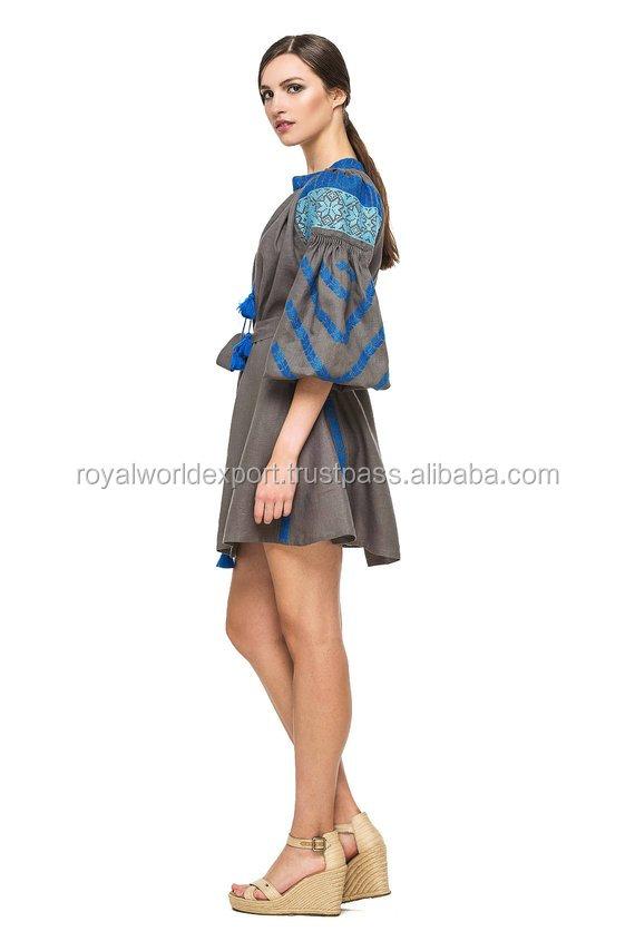 a77b06c133b9a Ukraine Mini Boho Dress Women Plus Size Short Summer Dress Clothes For Ladies  Tunic Embroidery Dress
