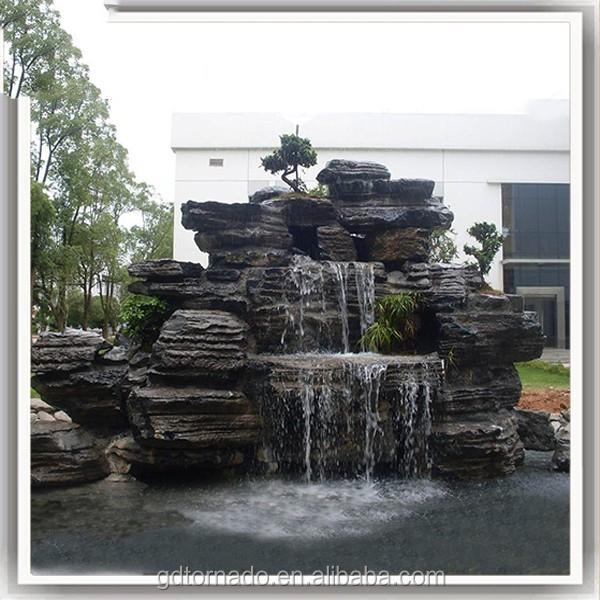 2017 Home And Garden Stone Wall Water Fountains Waterfalls Artificial  Fiberglass Garden Rock Waterfall Decoration