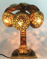 Coconut Shell Trees Table Lamp handmade Thailand