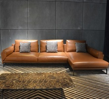 Commercial L รูปร่าง North Eugrope Modular sectional ของแท้ royal หนังโซฟา