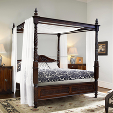 Bed POSTER ANTIQUE dark colour teak wood furniture