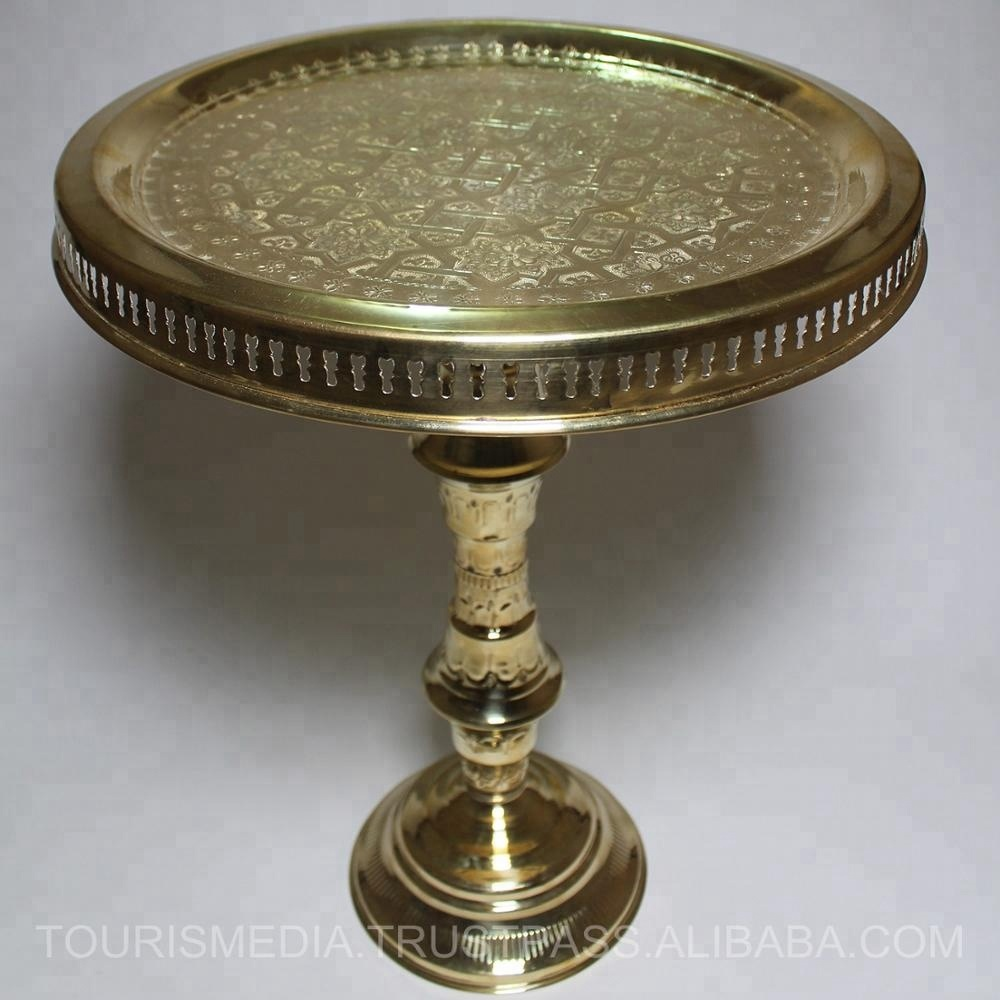 Moroccan Brass Coffee Tables Wholesale Hand Carved Tea Round Corner Tray Side Tables Buy Moroccan End Tablebrass Inlay Coffee Tablestylish Tea