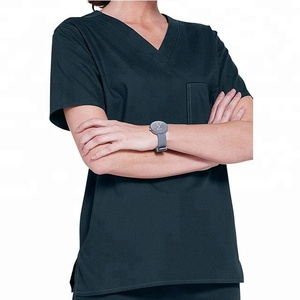 Breathable Style Men V-Collar Scrub Top