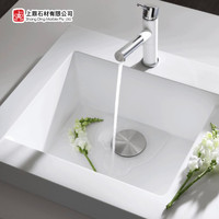 Integrated marble quartz stone Sink for kitchen and bathroom