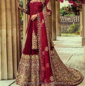 957d8270aa Red Pakistani Wedding Dresses, Red Pakistani Wedding Dresses Suppliers and  Manufacturers at Alibaba.com