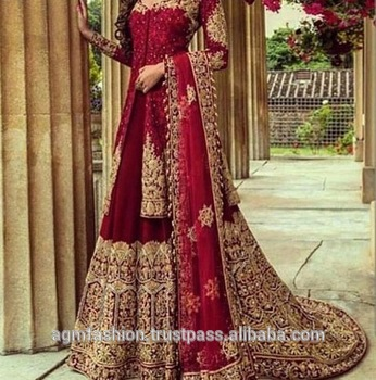 LATEST DESSIGNE PAKISTANI WEDDING BRIDAL DRESS