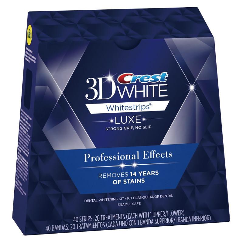 Crest 3D Whitestrips Crest 3D White Professional Effects 1 box 20 Pouches 40 Strips Crest Whitestrips CREST 3D WHITE PROFESSIONAL EFFECTS WHITESTRIPS - TEETH WHITENINGSTRIPS