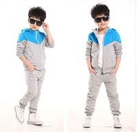 Tracksuit for Boys Hooded Coat Long Pants Boys Sport Suits Spring Autumn Casual Kids Teens Toddler Clothes