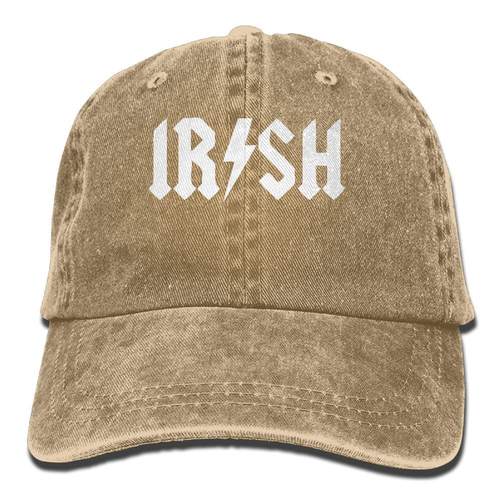 Get Quotations · Vintage Irish Rockstar Pattern Jeans Cap Adjustable Hat  Unisex Baseball Caps Black 36e6c96a11ac
