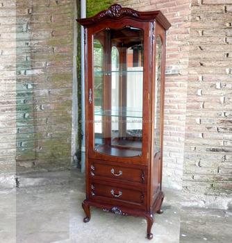 Klassische Möbel Wohnzimmer Vitrine Schrank Glastürmahagoni Möbel - Wohnzimmer glastür