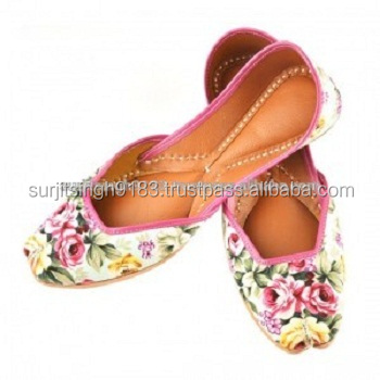 New Color Style Floral Print Mojari indian juti