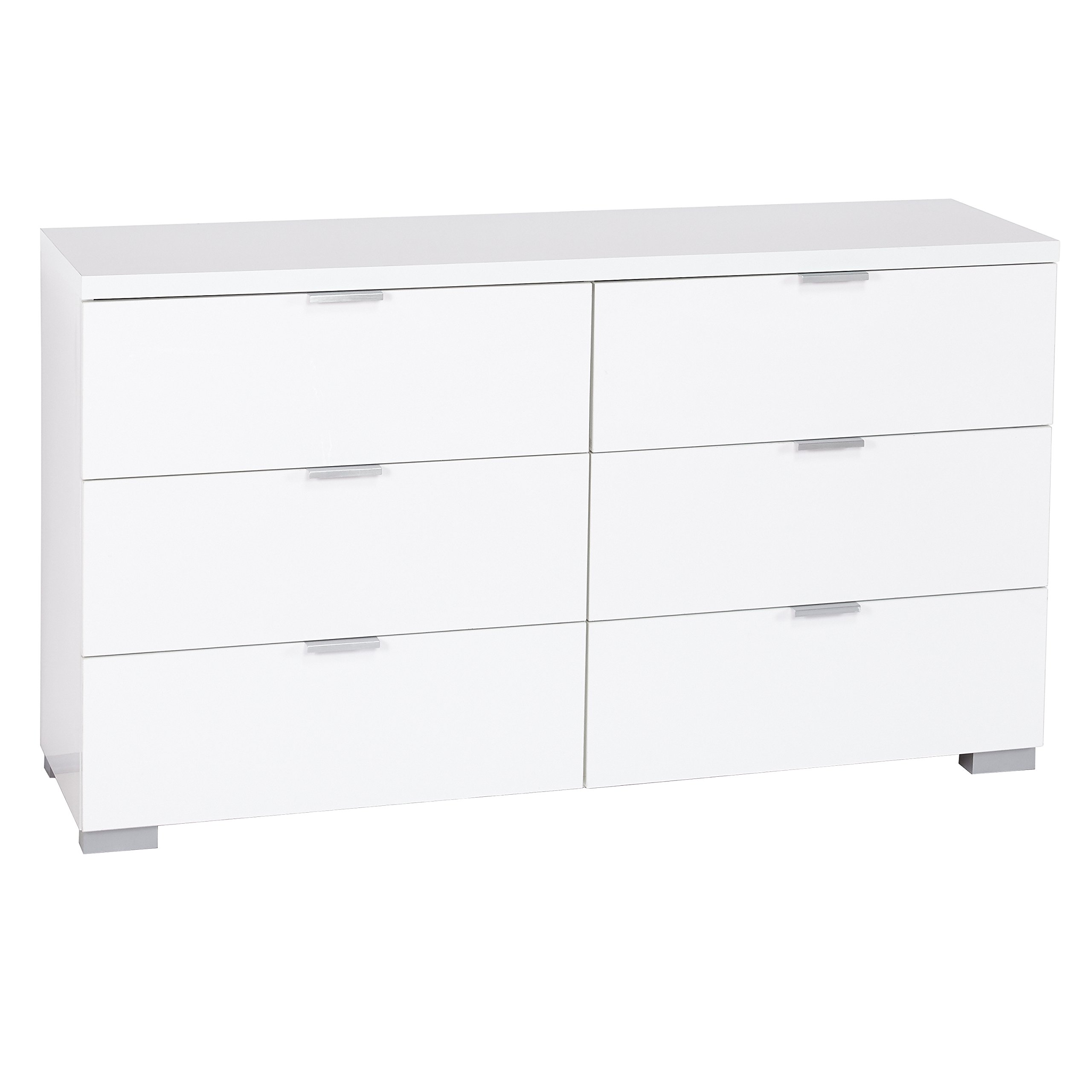 Target Marketing Systems Zuri Series Fusion Collection Contemporary 6 Drawer Chest, White