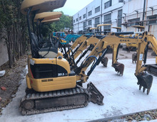 Fuel-efficient Caterpillar Machine 301 Excavator for sale , Used Cat Excavator at low working hours