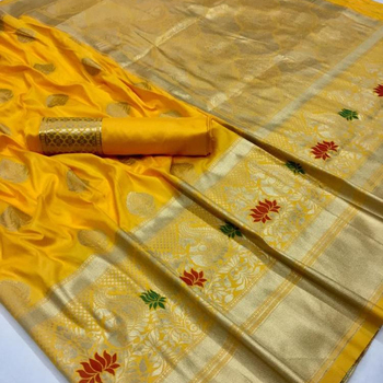 Pure and Soft Silk Saree For Women with Blouse | Wholesale Saree