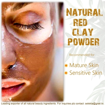 Red Bentonite Earthy Clay Fro Face - Buy Skin Whitening Clay Face Mask,Red  Bentonite Beauty Face Mask,Anti Acne Face Clay Powder Product on