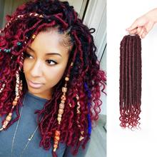 Alileader Africaine Extension <span class=keywords><strong>de</strong></span> <span class=keywords><strong>Cheveux</strong></span> Dreadlock Crochet Torsion Tresse <span class=keywords><strong>Synthétique</strong></span> Tissage Pack Déesse Faux Locs