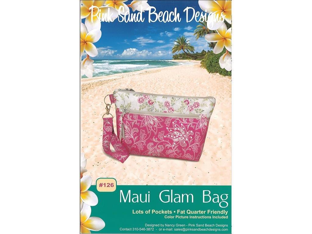 f1e674b7448dbd Get Quotations · Pink Sand Beach Design Pink Sand Beach Maui Glam Bag Ptrn  Pattern