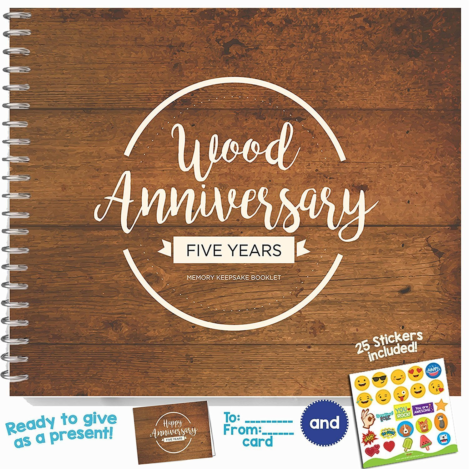 5th Wedding Anniversary Gift.5th Wedding Anniversary Memory Booklet For Couples By Unconditional Rosie A Booklet For Celebrating The Most Awesome Fifth Year Ever