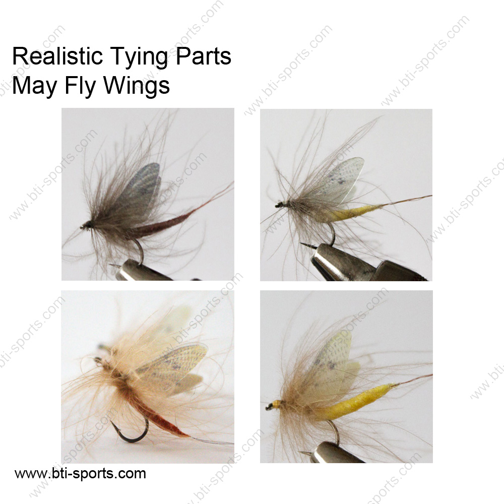 100 pcs set Realistic Flies Wings Fly Tying Wings Trout Fly Fishing Lures Tying
