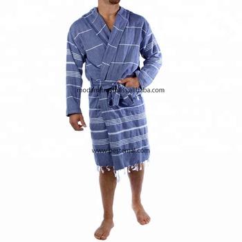 Cool Dark Blue Colored Turkish Spa Bath Hammam Robes Made in Denizli ... 8a5c21a9e