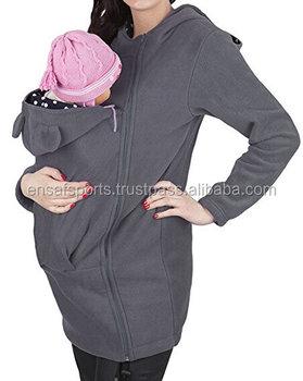 Women S Zip Up Baby Carrier Hoodie Infant Sling Sweatshirt Plus Size