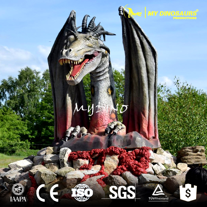 MY Dino WD-07 Custom Made Garden Dragon Sculpture