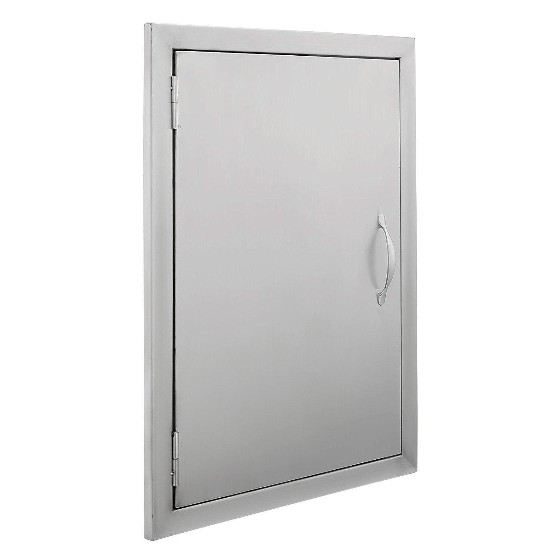 """Z-bond 17""""Wx24""""H BBQ Access Door 304 Stainless Steel BBQ Island Door Heavy Duty Single Vertical Door for Outdoor Kitchen"""