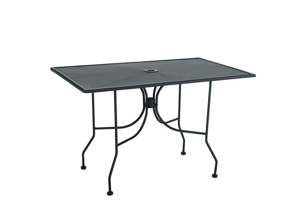 "Metal Outdoor Dining Table - 30"" X 48"" Black Paint Dimensions: 30""W X 48""D X 29""H Weight: 64 Lbs"