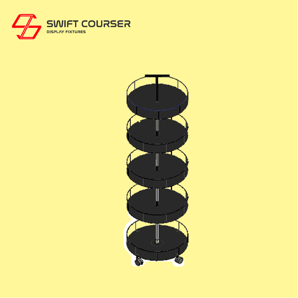 Heavy duty metal rotating display stand rack