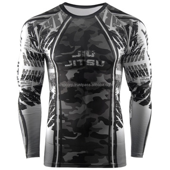 Customized Designed MMA Grappling Rashguards BJJ Baselayers UFC Training Rashguards