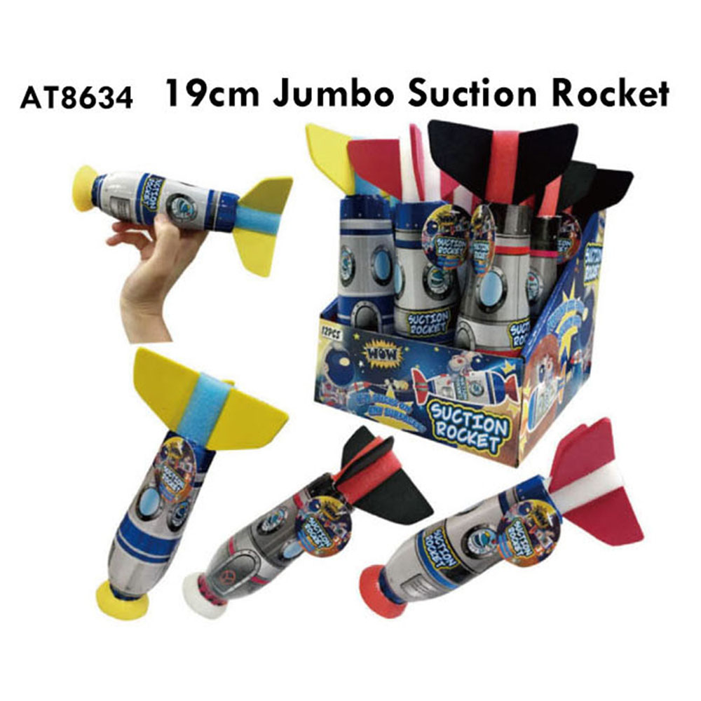 Popular 19cm Jumbo Suction Rocket Toy For Kids