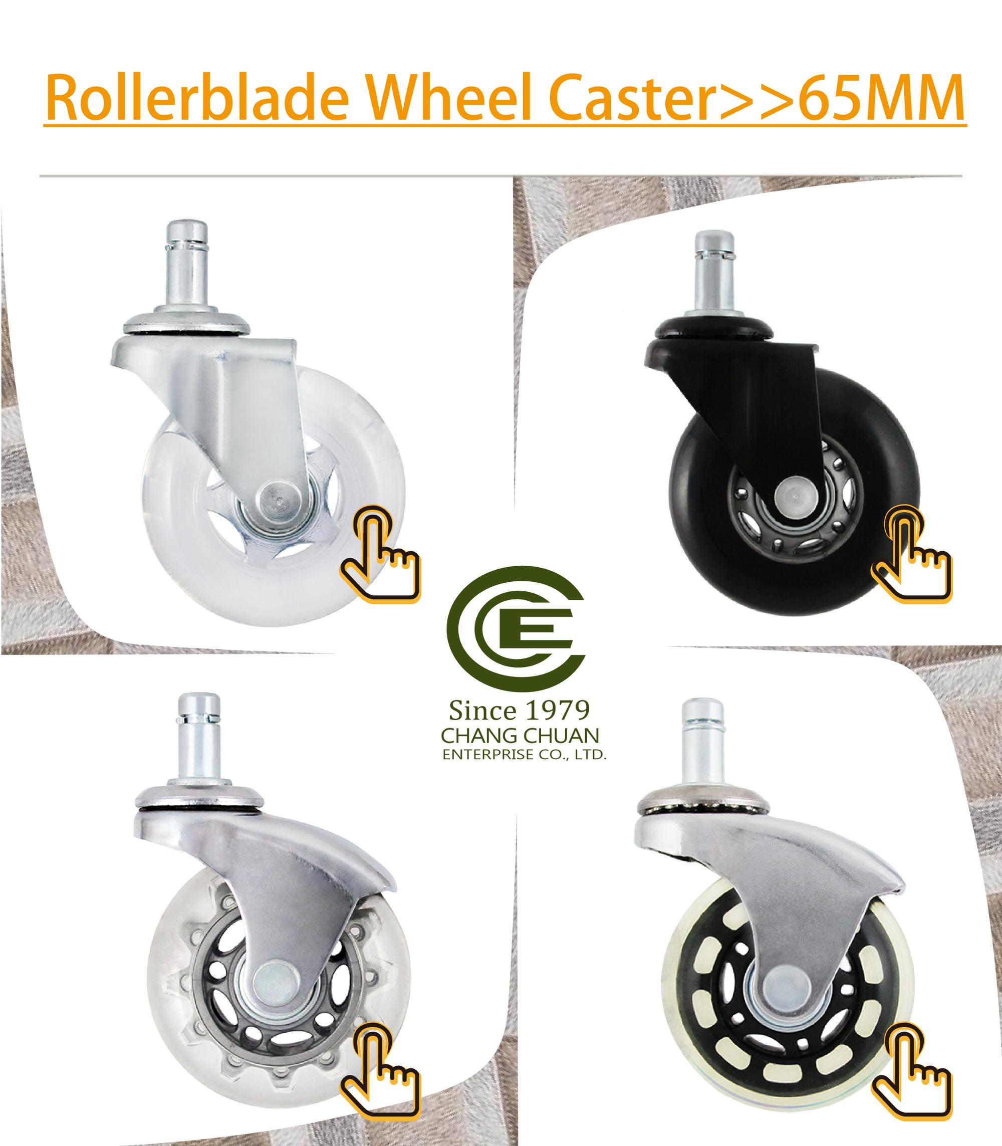 CCE Caster 2 Inch PU Office Chair Replacement Furniture Caster Wheels