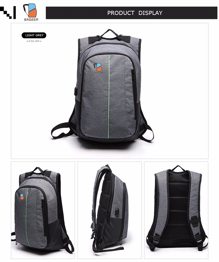 Stylish Phone Charging Backpacks with Multiple Compartments for Men ... b555b9e6d9ead