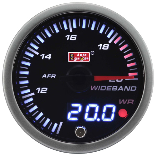 60mm wideband gauge autometer digital meter for automobile
