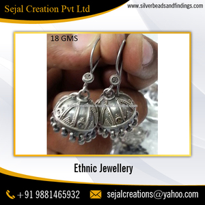 World Class Ethnic Oxidized Wholesale Silver Earrings